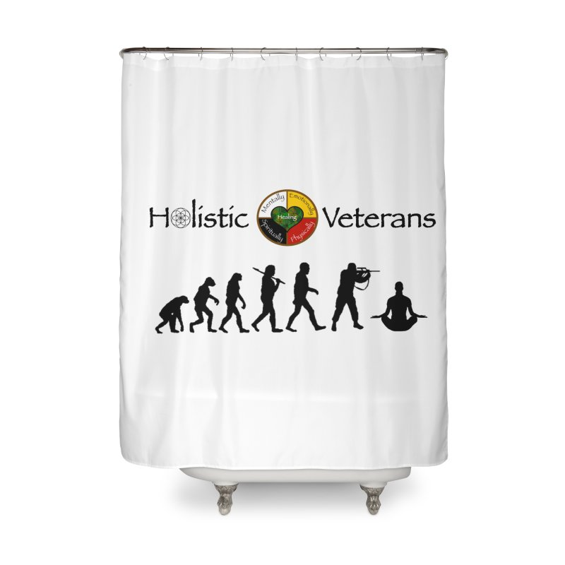 HV Logo Home Shower Curtain by HolisticVeterans Store