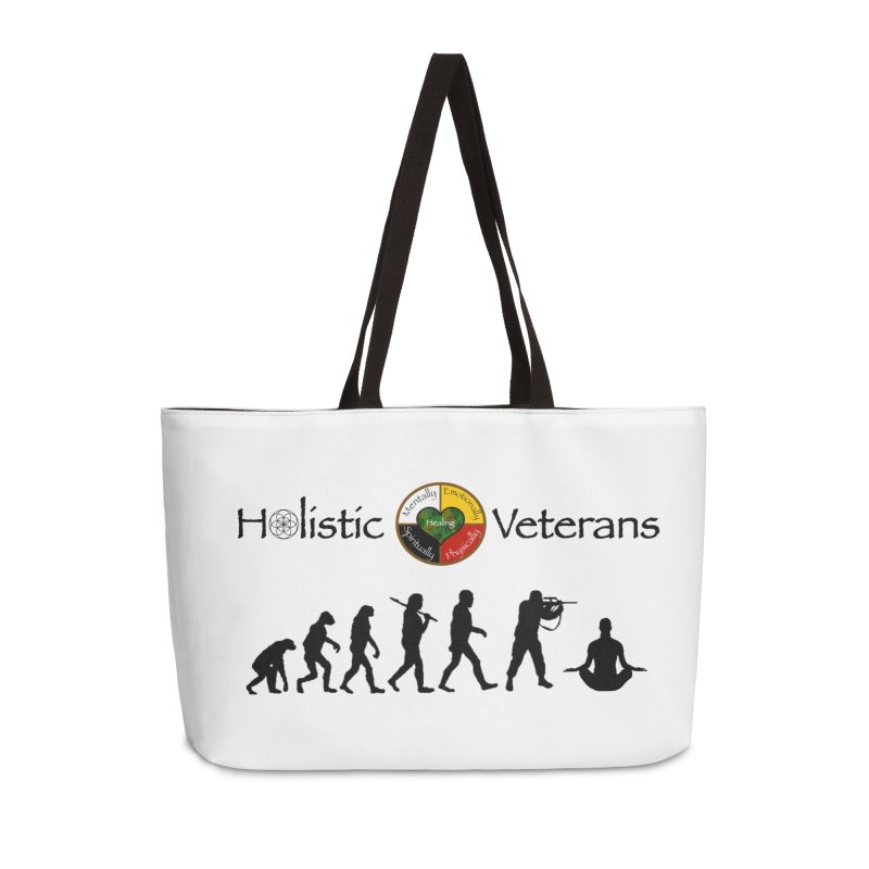 HV Logo Accessories Weekender Bag Bag by HolisticVeterans Store