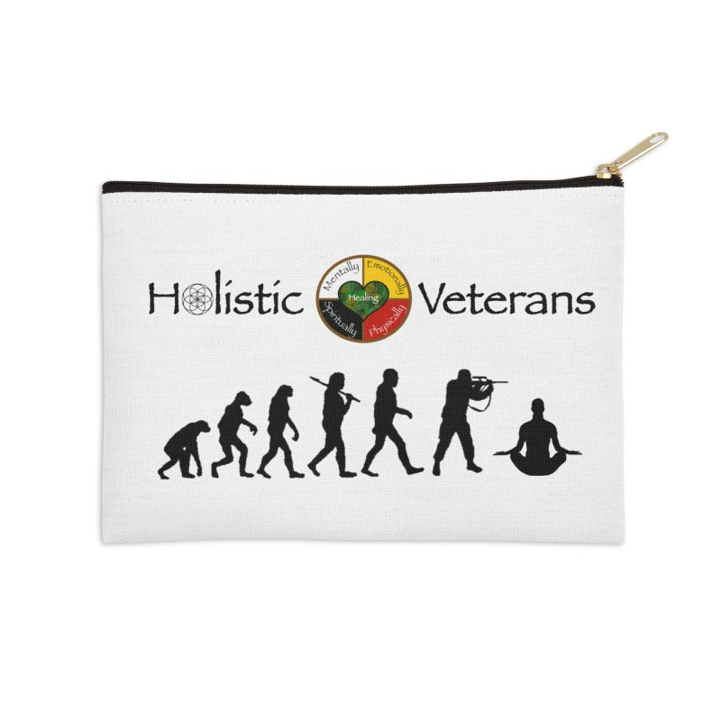 HV Logo Accessories Zip Pouch by HolisticVeterans Store
