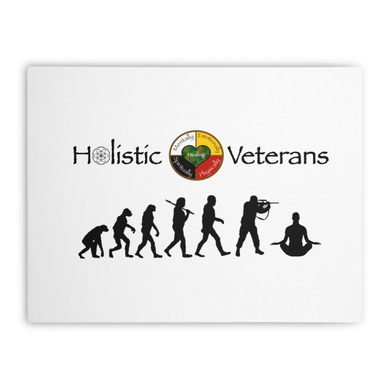 HV Logo Home Stretched Canvas by HolisticVeterans Store