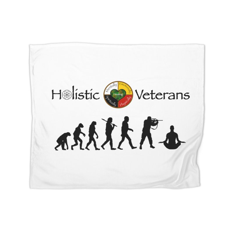 HV Logo Home Fleece Blanket Blanket by HolisticVeterans Store