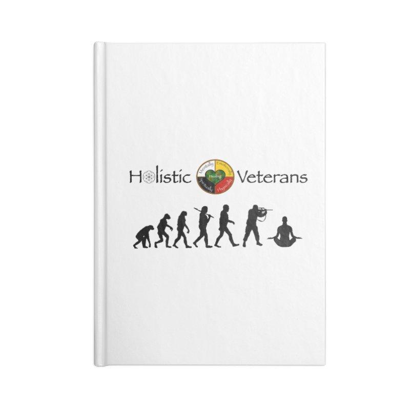 HV Logo Accessories Blank Journal Notebook by HolisticVeterans Store