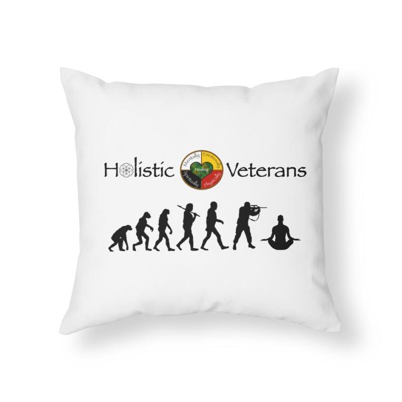 HV Logo Home Throw Pillow by HolisticVeterans Store