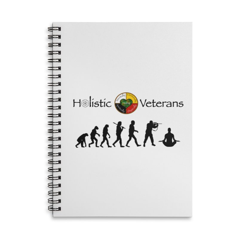 HV Logo Accessories Notebook by HolisticVeterans Store
