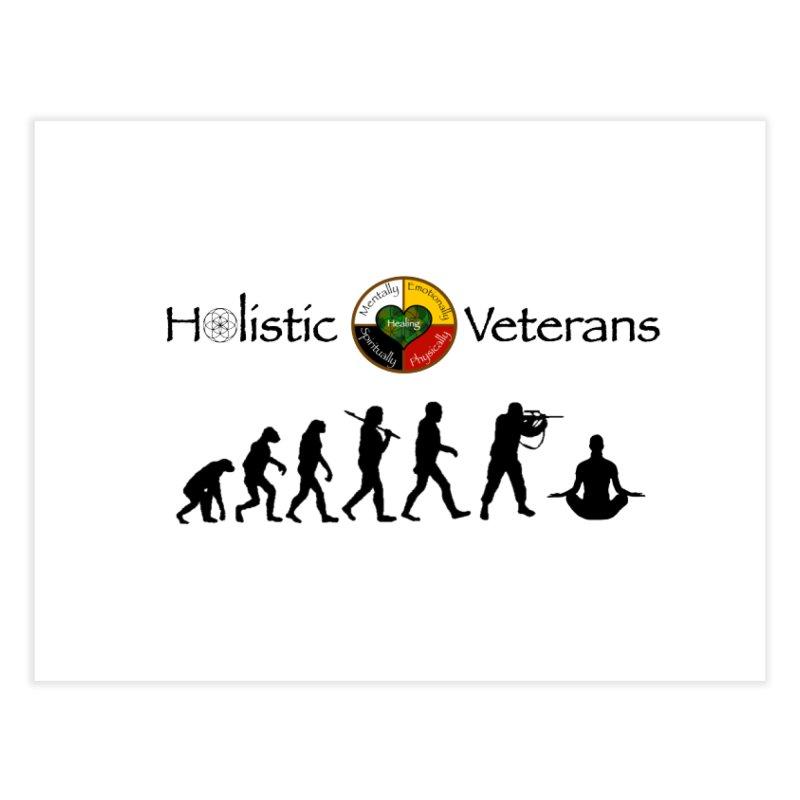 HV Logo Home Fine Art Print by HolisticVeterans Store
