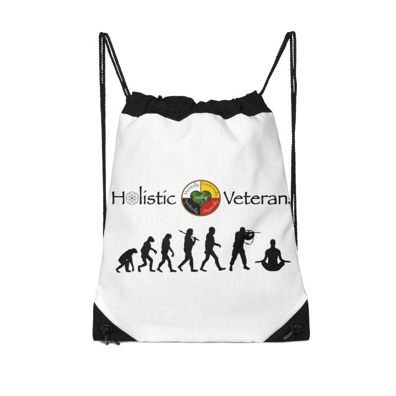 HV Logo Accessories Drawstring Bag Bag by HolisticVeterans Store