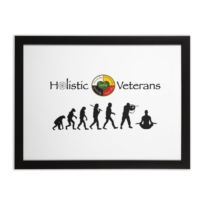 HV Logo Home Framed Fine Art Print by HolisticVeterans Store