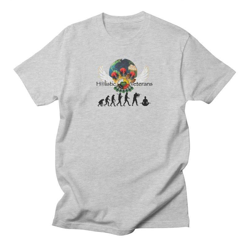 HV - Healing Humanity  Men's Regular T-Shirt by HolisticVeterans Store