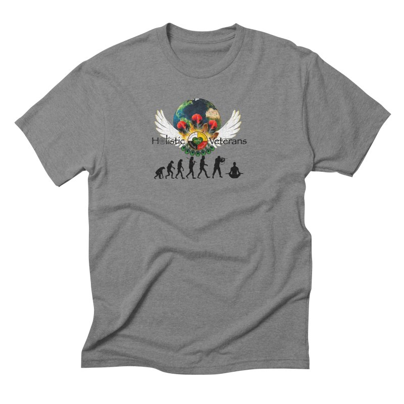 HV - Healing Humanity  Men's Triblend T-Shirt by HolisticVeterans Store