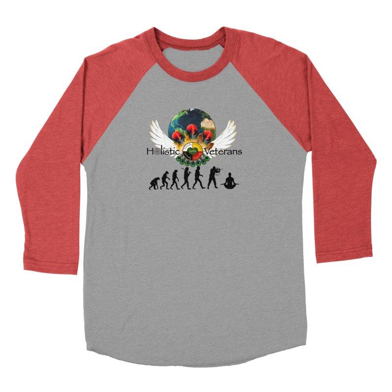 HV - Healing Humanity  Men's Baseball Triblend Longsleeve T-Shirt by HolisticVeterans Store