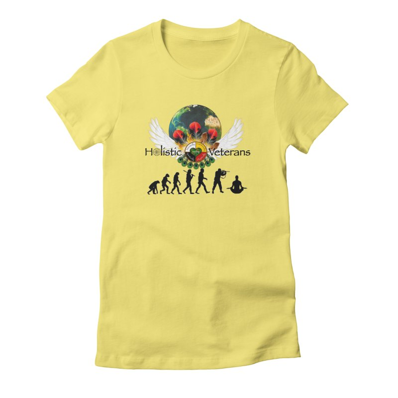 HV - Healing Humanity  Women's Fitted T-Shirt by HolisticVeterans Store