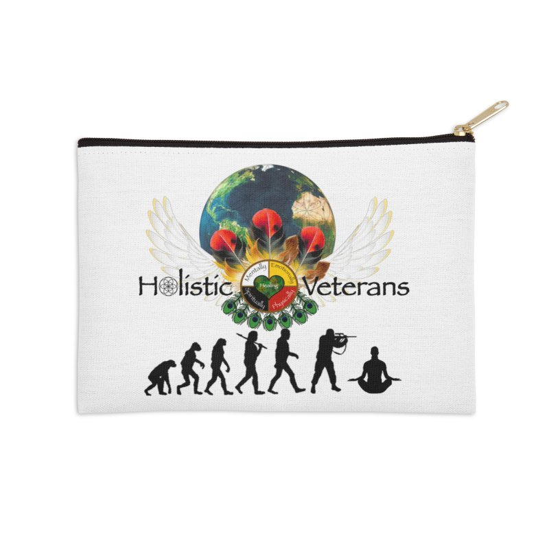 HV - Healing Humanity  Accessories Zip Pouch by HolisticVeterans Store