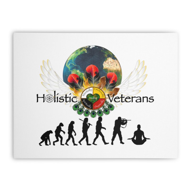 HV - Healing Humanity  Home Stretched Canvas by HolisticVeterans Store