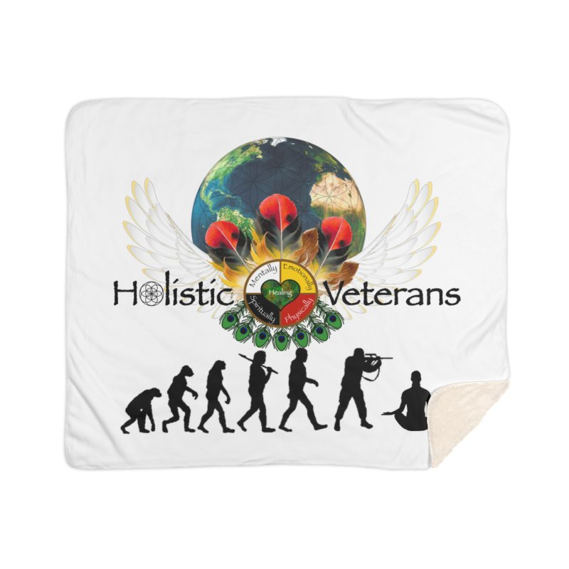 HV - Healing Humanity  Home Sherpa Blanket Blanket by HolisticVeterans Store
