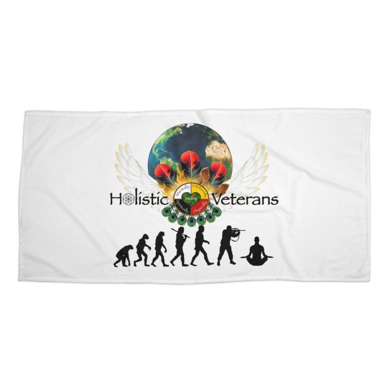HV - Healing Humanity  Accessories Beach Towel by HolisticVeterans Store