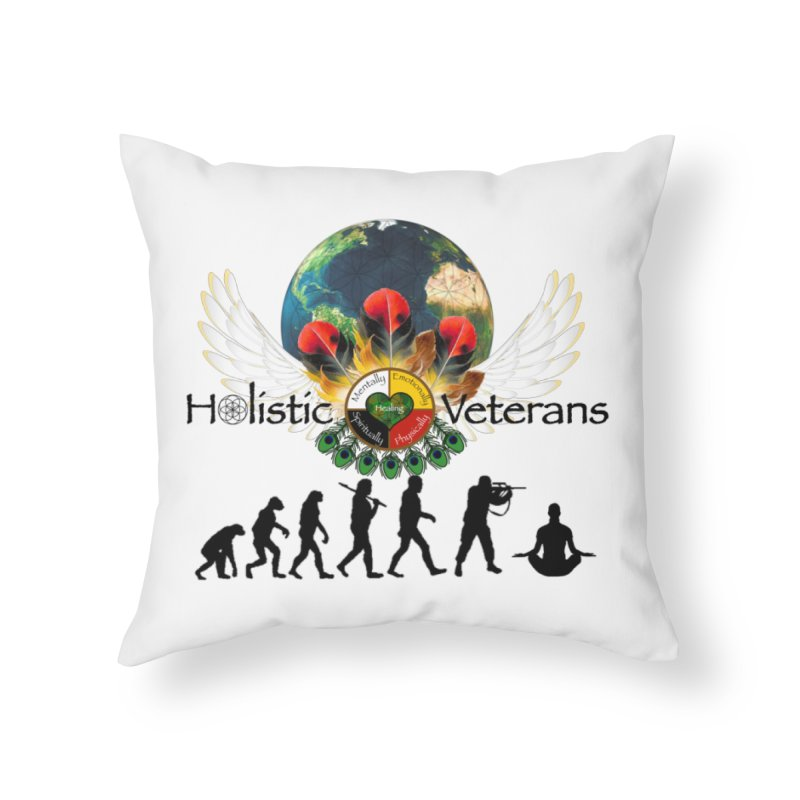 HV - Healing Humanity  Home Throw Pillow by HolisticVeterans Store