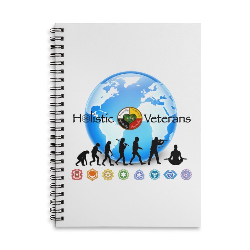 HV Logo Earth Chakra Accessories Notebook by HolisticVeterans Store