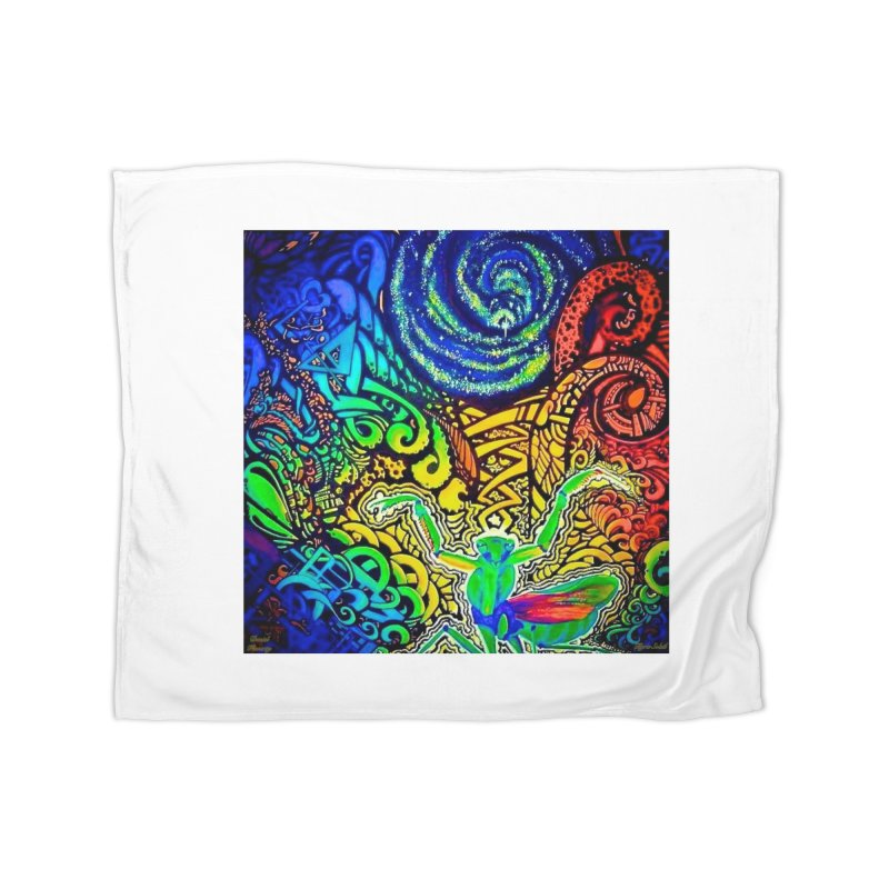 Universal Mantis by Tigra Soleil & Daniel Finnerty Home Fleece Blanket Blanket by HolisticVeterans Store