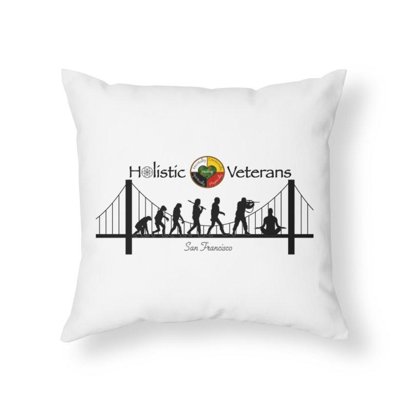 HV - San Francisco Home Throw Pillow by HolisticVeterans Store