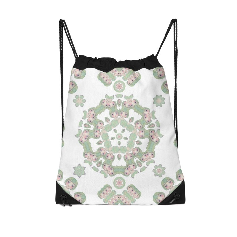 Nisa Accessories Drawstring Bag Bag by Designed by Amy Gail