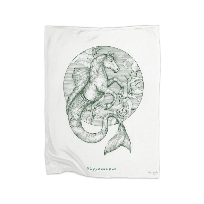 Hippocampus Home Blanket by HoneyGherkin's Artist Shop