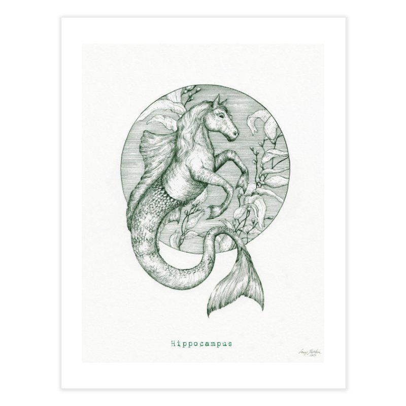 Hippocampus Home Fine Art Print by HoneyGherkin's Artist Shop