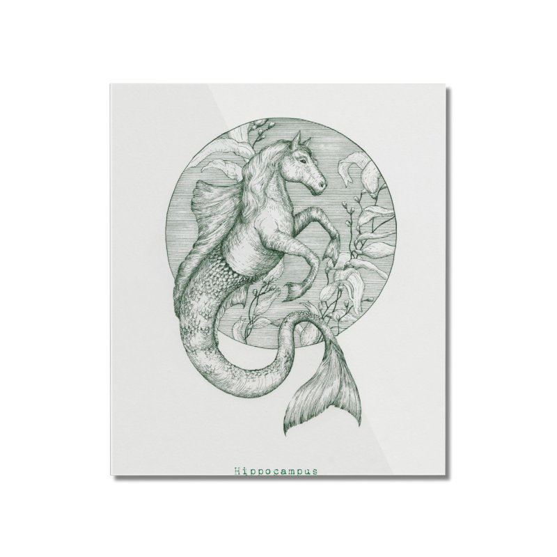 Hippocampus Home Mounted Acrylic Print by HoneyGherkin's Artist Shop