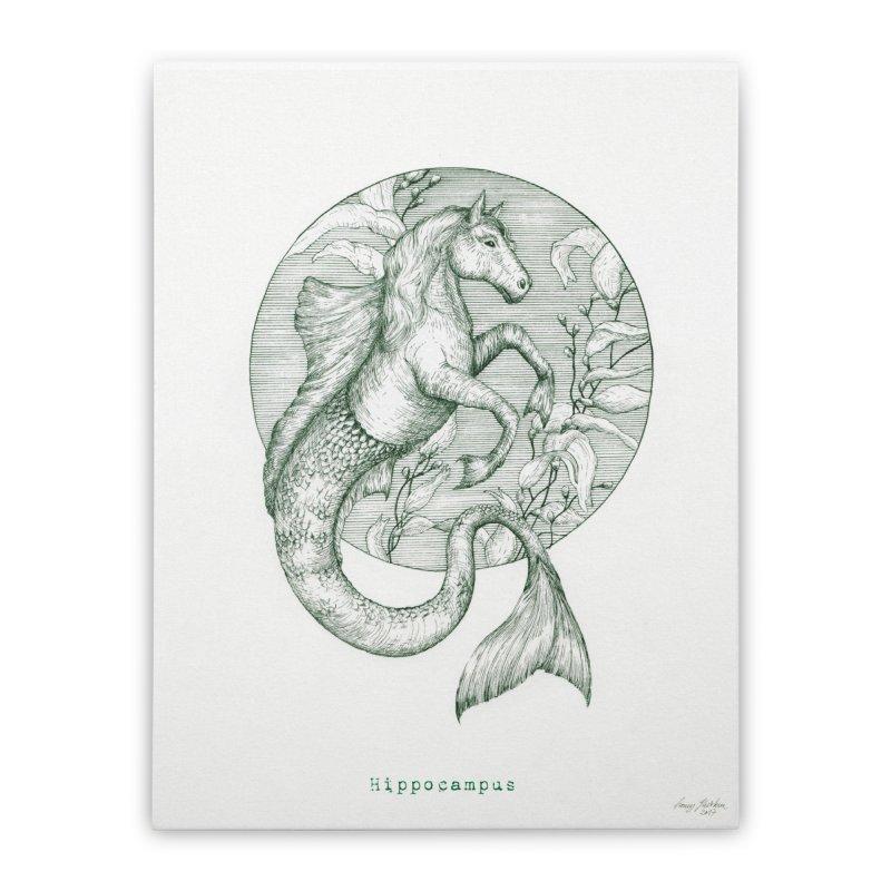 Hippocampus Home Stretched Canvas by HoneyGherkin's Artist Shop