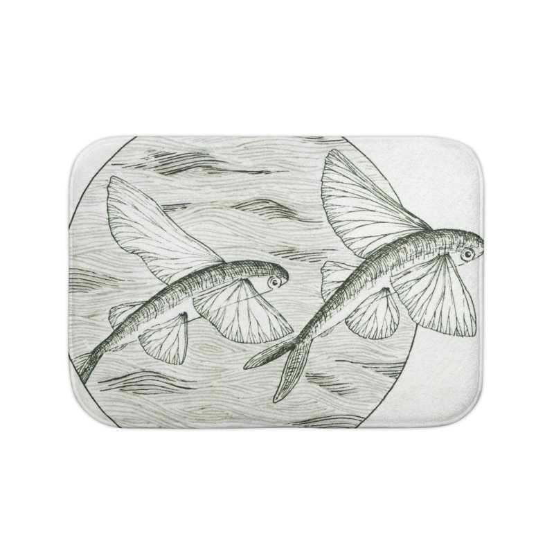 Flying Fish - Exocoetidae Home Bath Mat by HoneyGherkin's Artist Shop