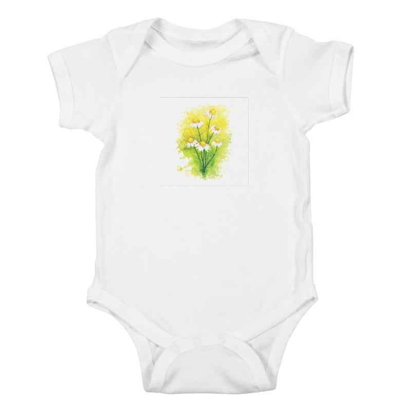 Chamomile Kids Baby Bodysuit by HoneyGherkin's Artist Shop