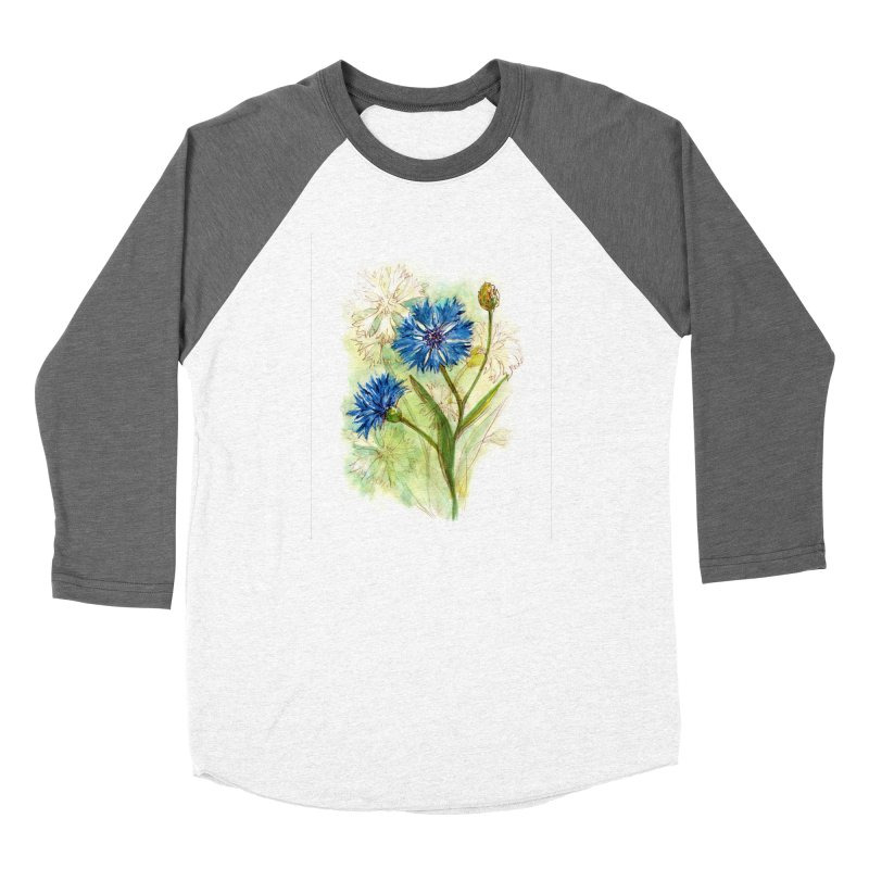 Cornflower Women's Longsleeve T-Shirt by HoneyGherkin's Artist Shop