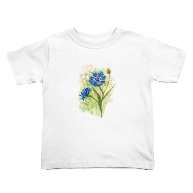 Cornflower Kids Toddler T-Shirt by HoneyGherkin's Artist Shop