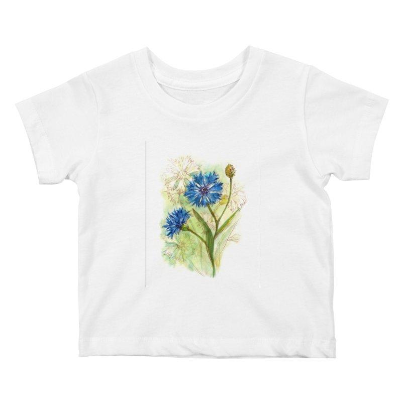 Cornflower Kids Baby T-Shirt by HoneyGherkin's Artist Shop