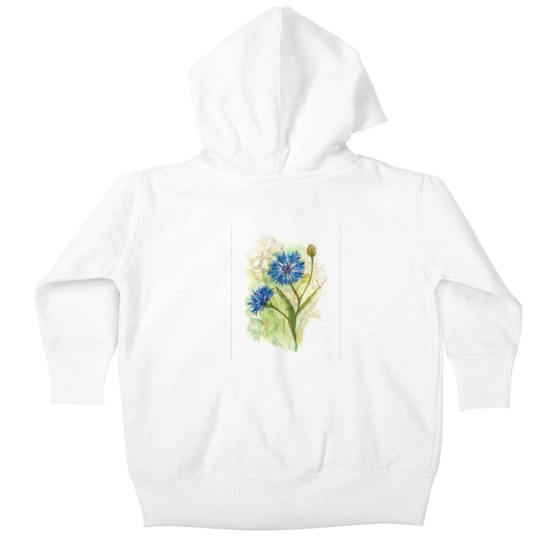 Cornflower Kids Baby Zip-Up Hoody by HoneyGherkin's Artist Shop
