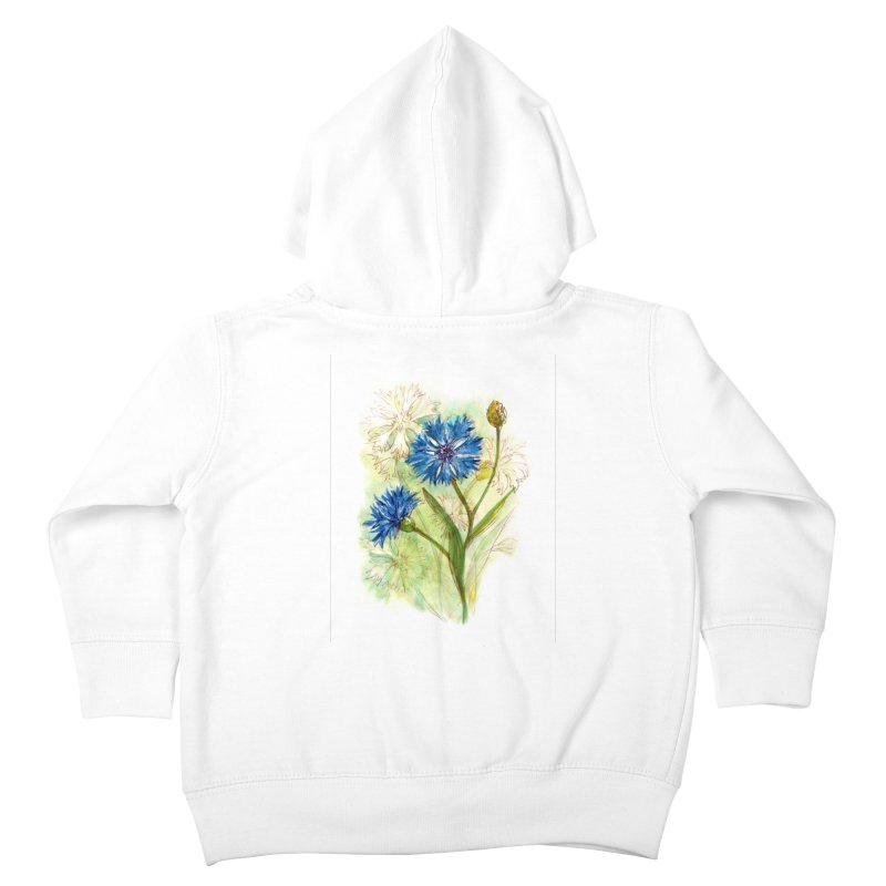 Cornflower Kids Toddler Zip-Up Hoody by HoneyGherkin's Artist Shop