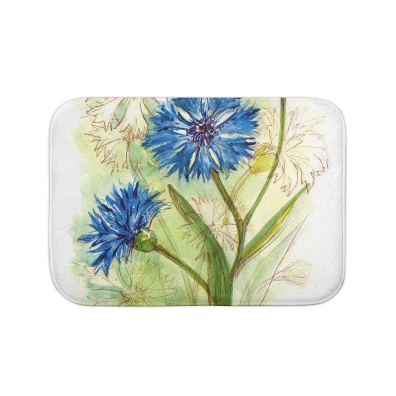 Cornflower Home Bath Mat by HoneyGherkin's Artist Shop