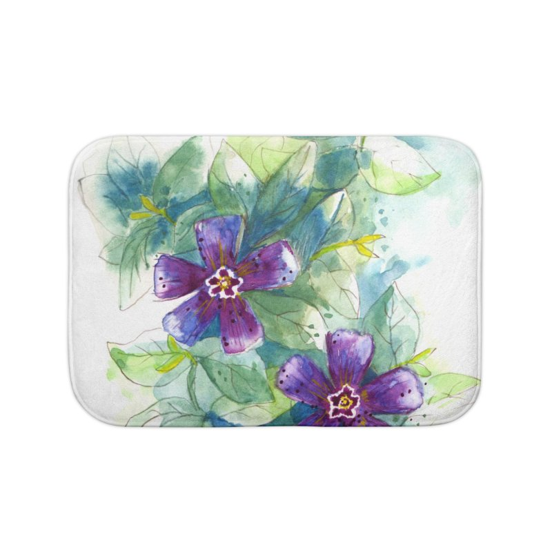 Periwinkle Home Bath Mat by HoneyGherkin's Artist Shop