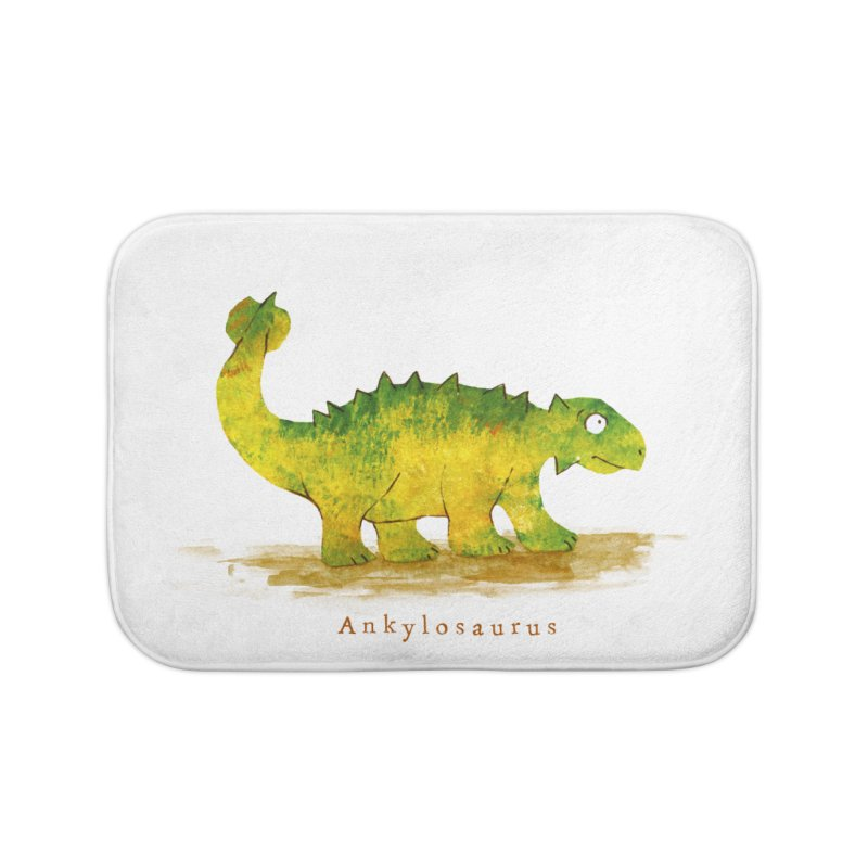 Ankylosaurus Home Bath Mat by HoneyGherkin's Artist Shop