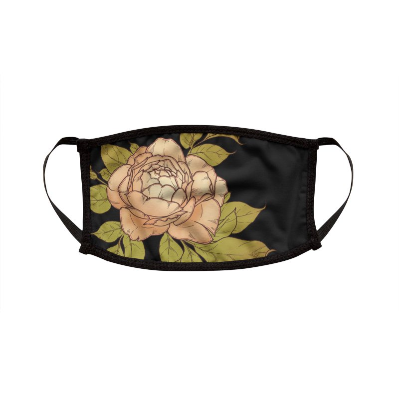 Rose Accessories Face Mask by HookieDuke's Artist Shop