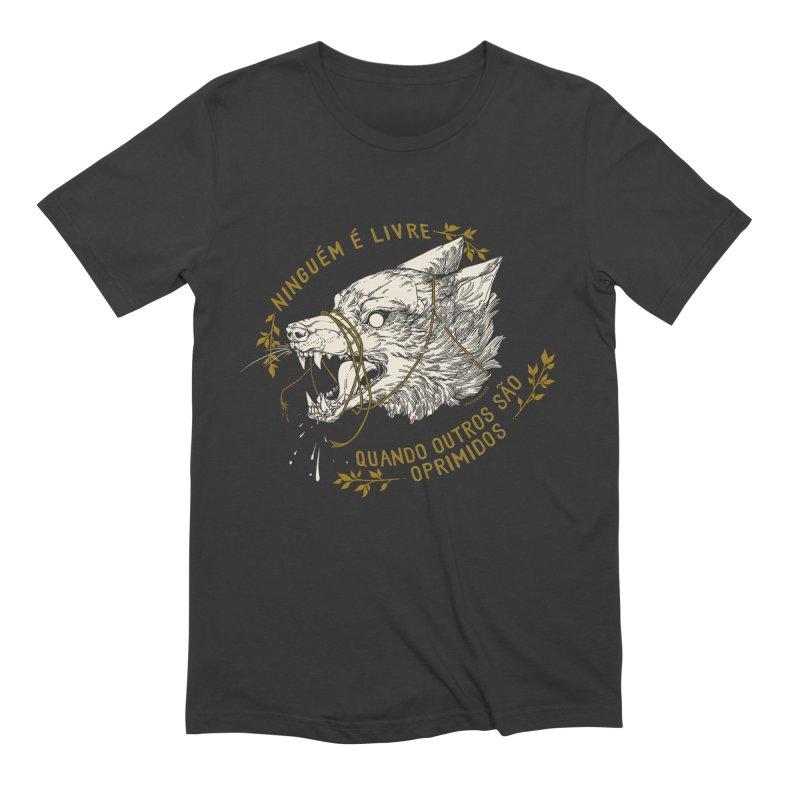 Resist (Portuguese) in Men's Extra Soft T-Shirt Smoke by HookieDuke's Artist Shop