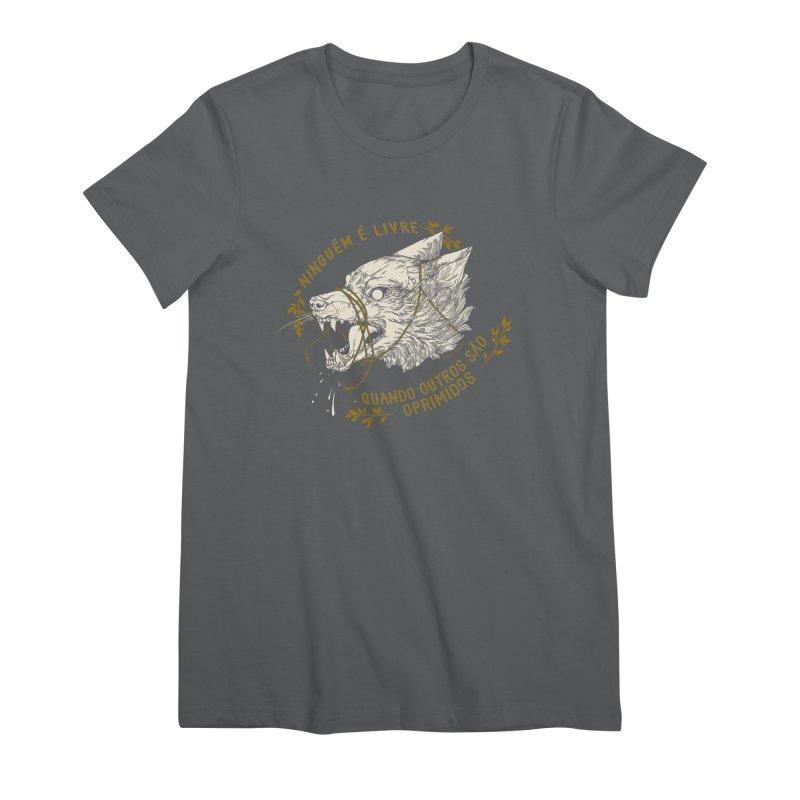 Resist (Portuguese) Women's Premium T-Shirt by HookieDuke's Artist Shop