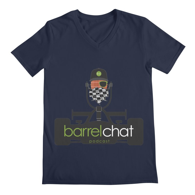 Barrel Chat Race Day Men's V-Neck by Hopped Up Network's Artist Shop