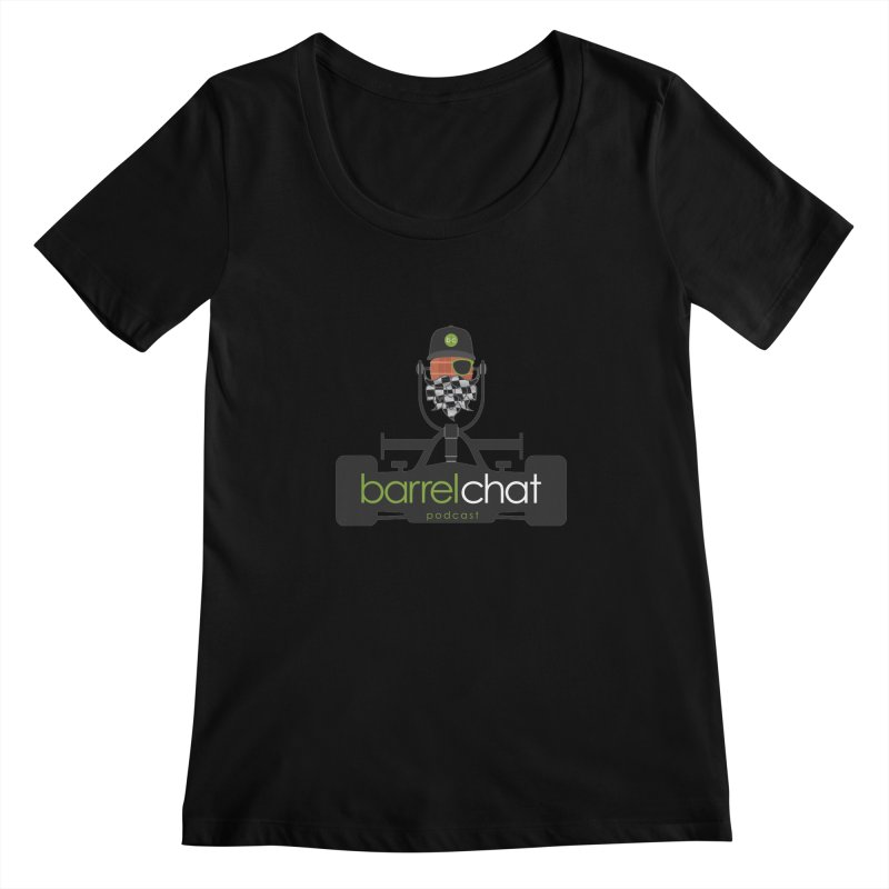 Barrel Chat Race Day Women's Scoopneck by Hopped Up Network's Artist Shop