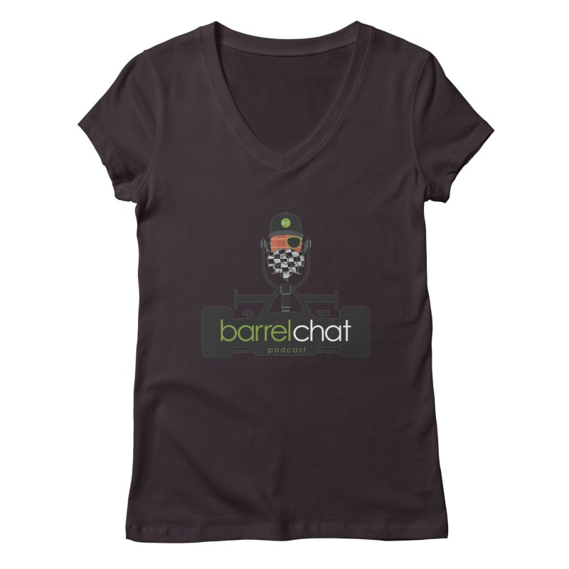 Barrel Chat Race Day Women's V-Neck by Hopped Up Network's Artist Shop