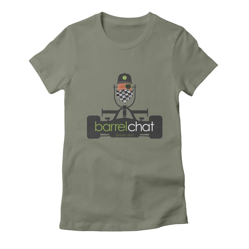 Barrel Chat Race Day Women's Fitted T-Shirt by Hopped Up Network's Artist Shop