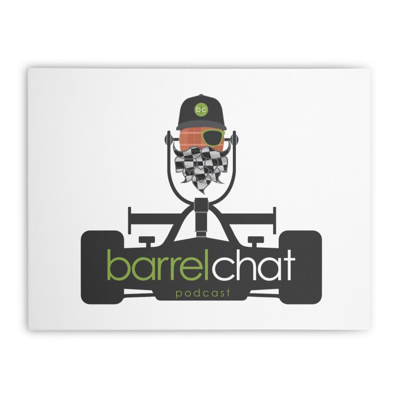Barrel Chat Race Day Home Stretched Canvas by Hopped Up Network's Artist Shop