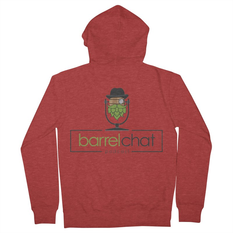 Barrel Chat Women's French Terry Zip-Up Hoody by Hopped Up Network's Artist Shop