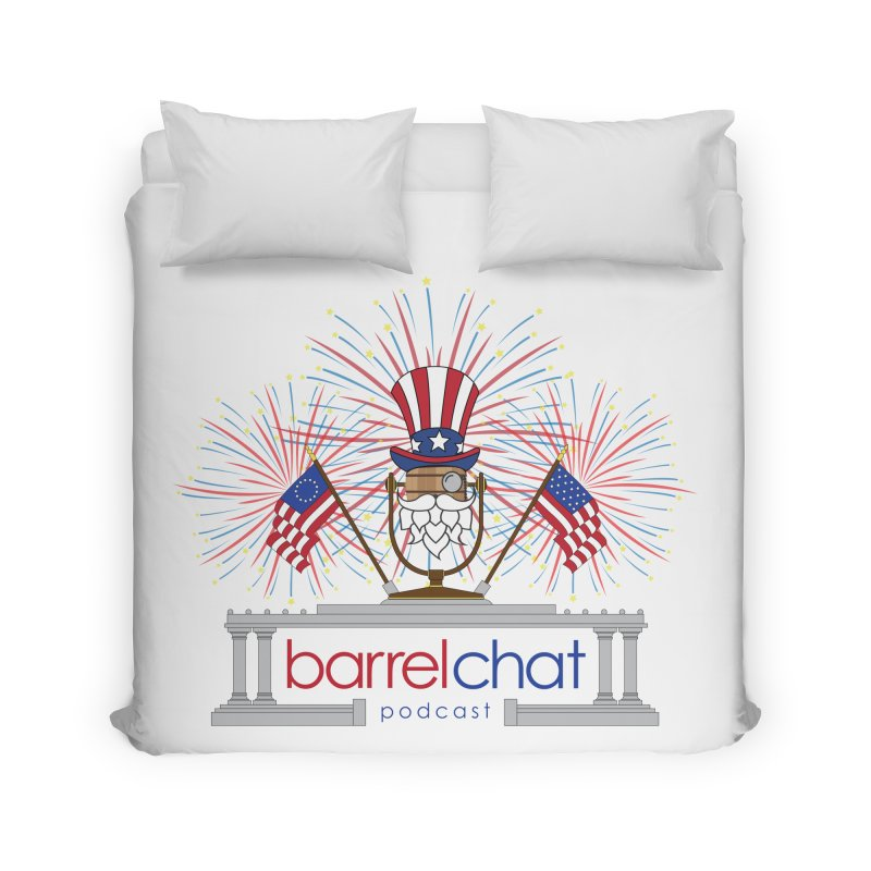 Barrel Chat - 4th of July Home Duvet by Hopped Up Network's Artist Shop