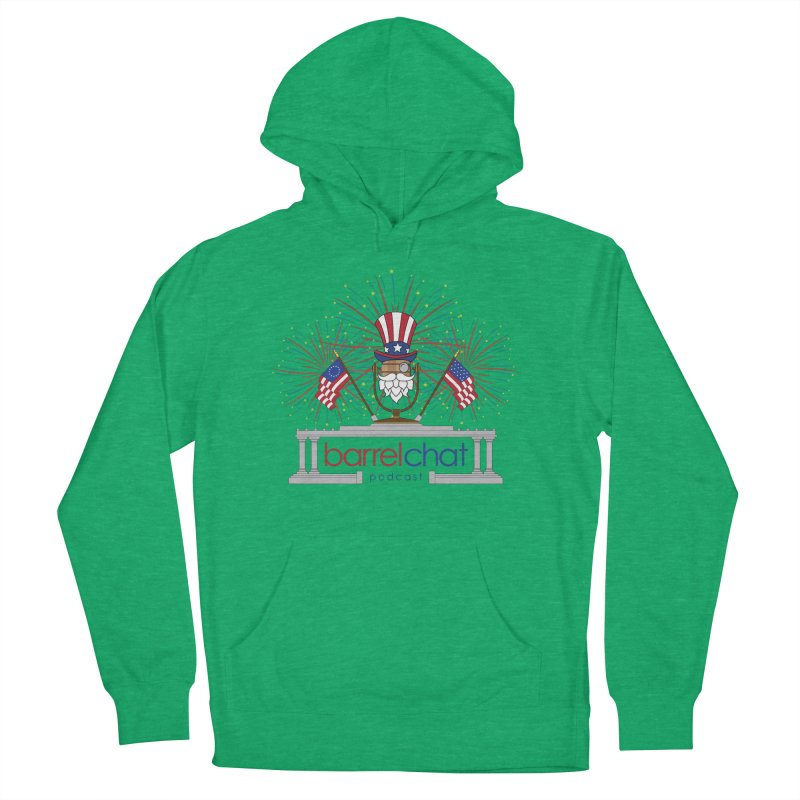 Barrel Chat - 4th of July Men's French Terry Pullover Hoody by Hopped Up Network's Artist Shop