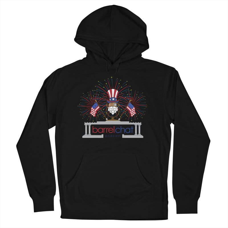 Barrel Chat - 4th of July Men's Pullover Hoody by Hopped Up Network's Artist Shop
